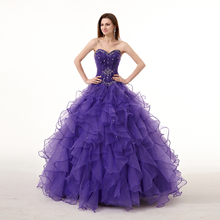 2018 Candy Color Floor-length Ball Gown Quinceanera Dresses