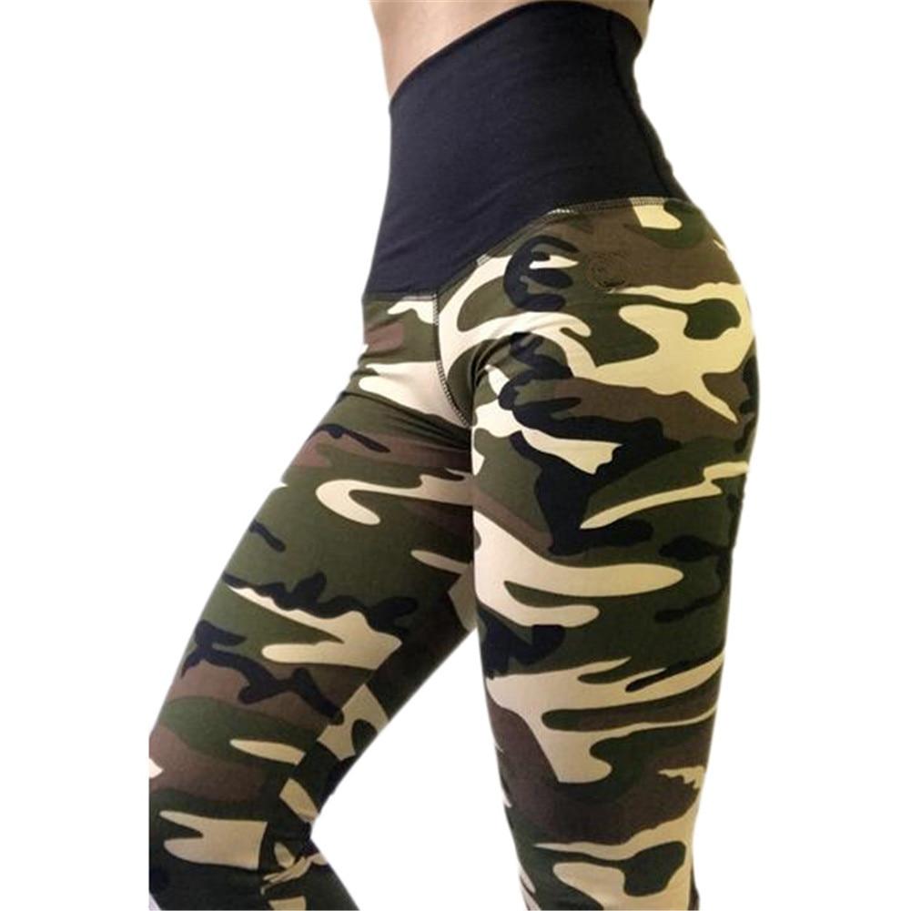 784fe6ea9bd70 2019 Wrinkles Women Camouflage Leggings Fitness Army Green Leggings ...