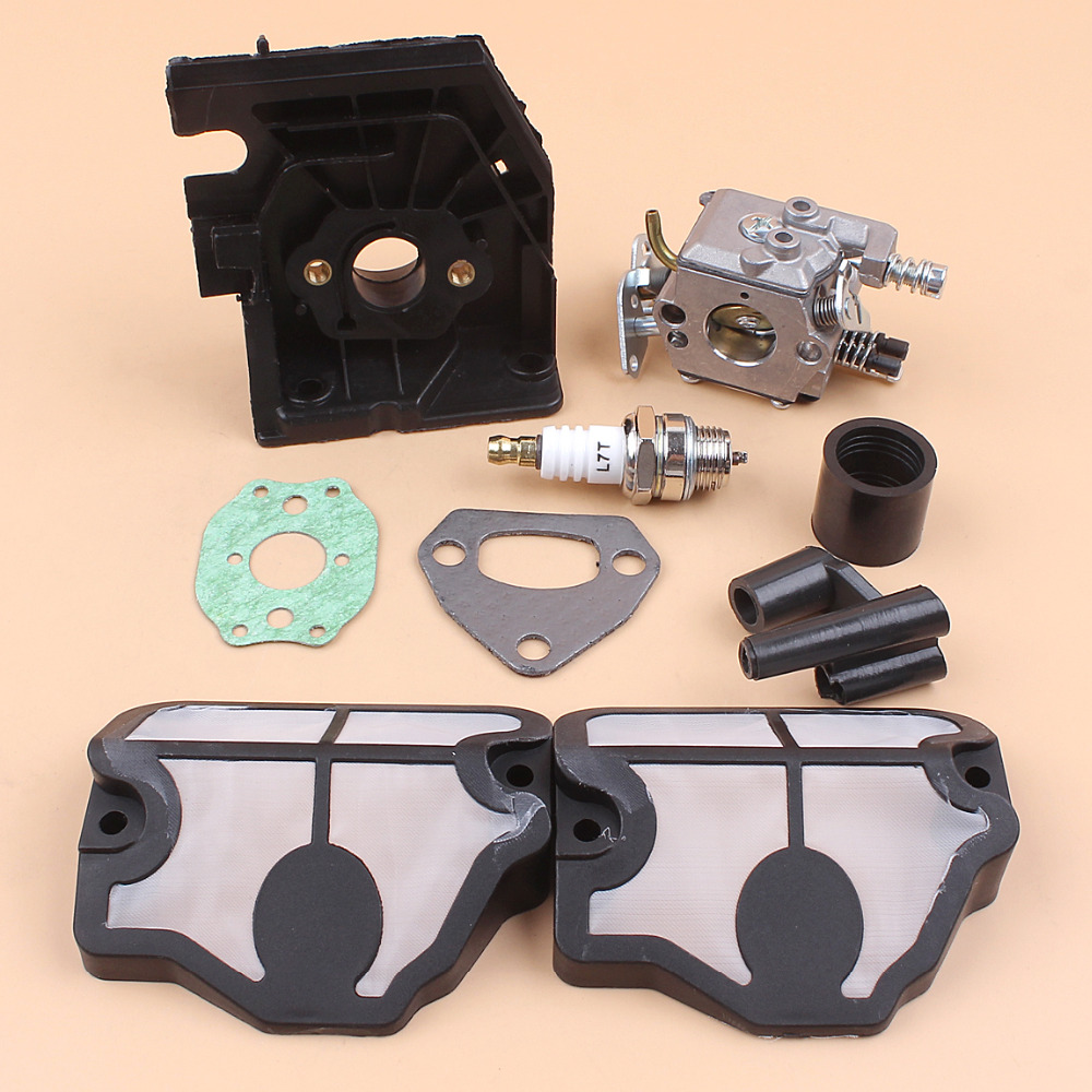 Carburetor Carb Adaptor Air Filter Intake Manifold Gasket Kit For HUSQVARNA 142 136 141 137 36 41 Chainsaw Chain Saw Spare Parts