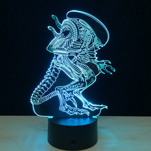 Alien 3D Led Night Light Colorful Alien Queen Acrylic USB LED Table Lamp Creative Action Figure Lighting Toy