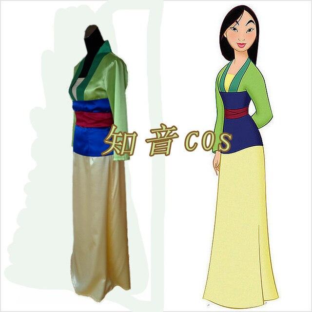 Spedizione Gratuita Fantasia Principessa Mulan Costume di Halloween Donne  Cosplay Custom Made Adulti Costumi Mulan d05f33dde35