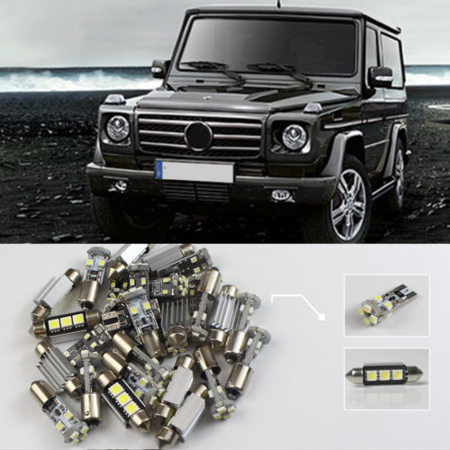 #99 16x For Benz G-Class W463 2009~2012 Led Lights Interior Roof Dome Map Reading Light Package Kit Canbus Error Free 18pc canbus error free reading led bulb interior dome light kit package for audi a7 s7 rs7 sportback 2012