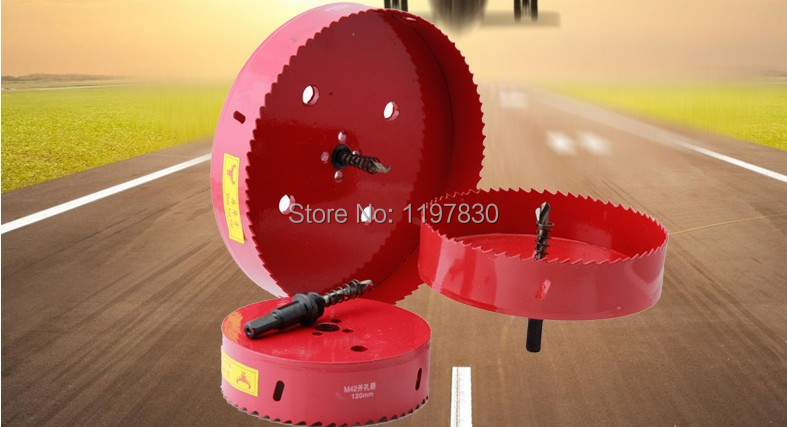 цена на Free shipping universal hole saw 125mm M42 Bi-metal hole Saw steel iron wood plastic hole opener underreamer pipeline perforator