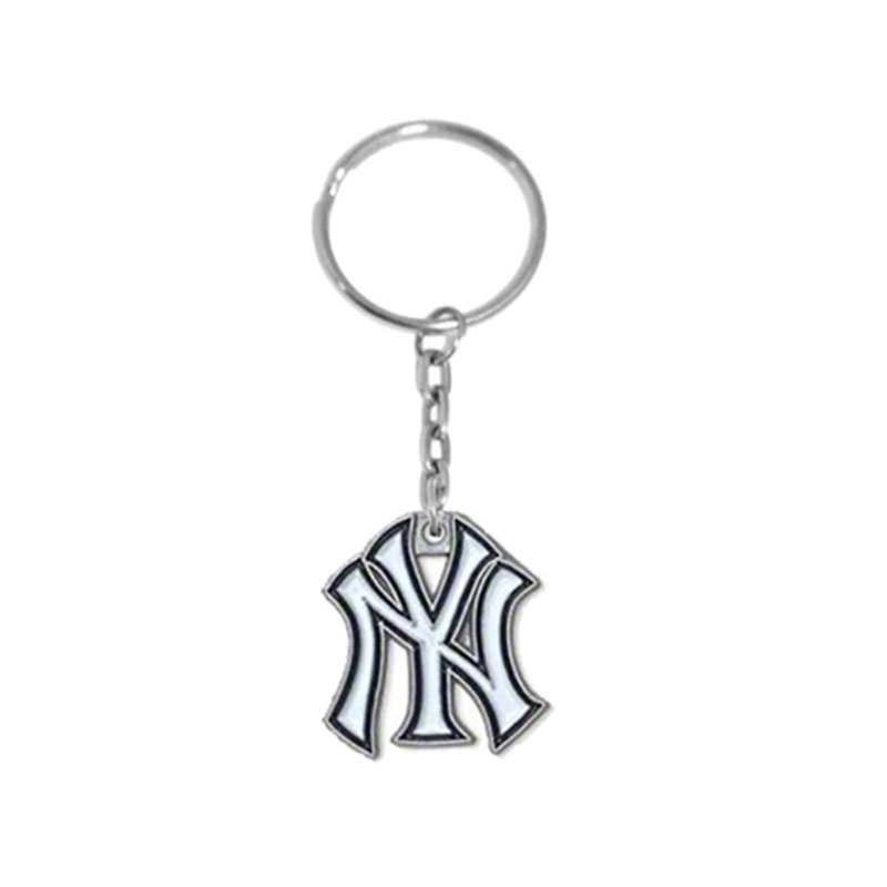 4 Styles Dropshipping Enamel NY Yankee Bag Charms Car Key Chain For Baseball Baseball Fa ...