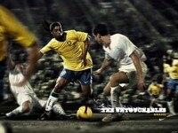Freies Verschiffen Ein Stück Tapete von Ronaldinho Brasilien, Hot Retro Poly klebstoff Druck Poster, HD Wandaufkleber, größe 20x30 U3018