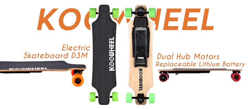 Koowheel Longboard Newest D3M+ Electric Skateboard 4 wheels Electric Hoverboard with Updated Remote Controller and Hub Motor (11)