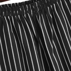 2018 Новый горячий Для женщин Повседневное эластичный пояс полосатые брюки женские ботильоны-Длина карандаш брюки морковь брюки офисные