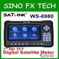Satlink новейший WS6980 DVB-S2 + DVB-C + DVB-T2 комбинированный спутниковый поисковик ws-6980 для ТВ сигнала