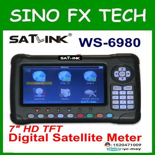 Satlink latest WS6980 DVB-S2+DVB-C+DVB-T2 COMBO combo satellite finder ws-6980 for tv signal free ship original satlink ws 6980 dvb s2 dvb c dvb t2 combo 7 spectrum analyzer satellite finder meter ws6980