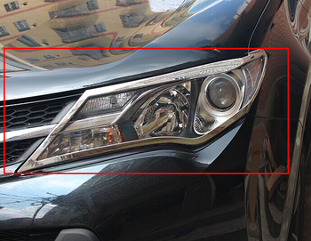 For rav4 2014 2015 accessories ABS chrome headlights cover for toyota rav4 2014 2015 car-styling For toyota rav 4 accessory new