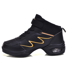 Maultby Women Black Yellow Dance Shoes Jazz Hip Hop Shoes Sneakers for Woman Platform Dancing Ladies Shoes #DS4952B