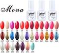 Mona Nail Gels Polishes,Nail Art Soak Off UV&LED Gel Polish Georgous Colors Long Lasting Up To 30 Days