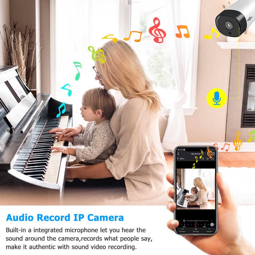 Hiseeu 8CH 1080 P Беспроводная система видеонаблюдения 2MP IR наружная аудио запись ip-камера Водонепроницаемая Wifi NVR комплект видеонаблюдения