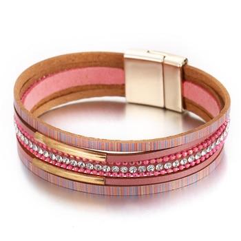 Women's Gold Leather Bracelet Bracelets Jewelry New Arrivals Women Jewelry Metal Color: FCS970