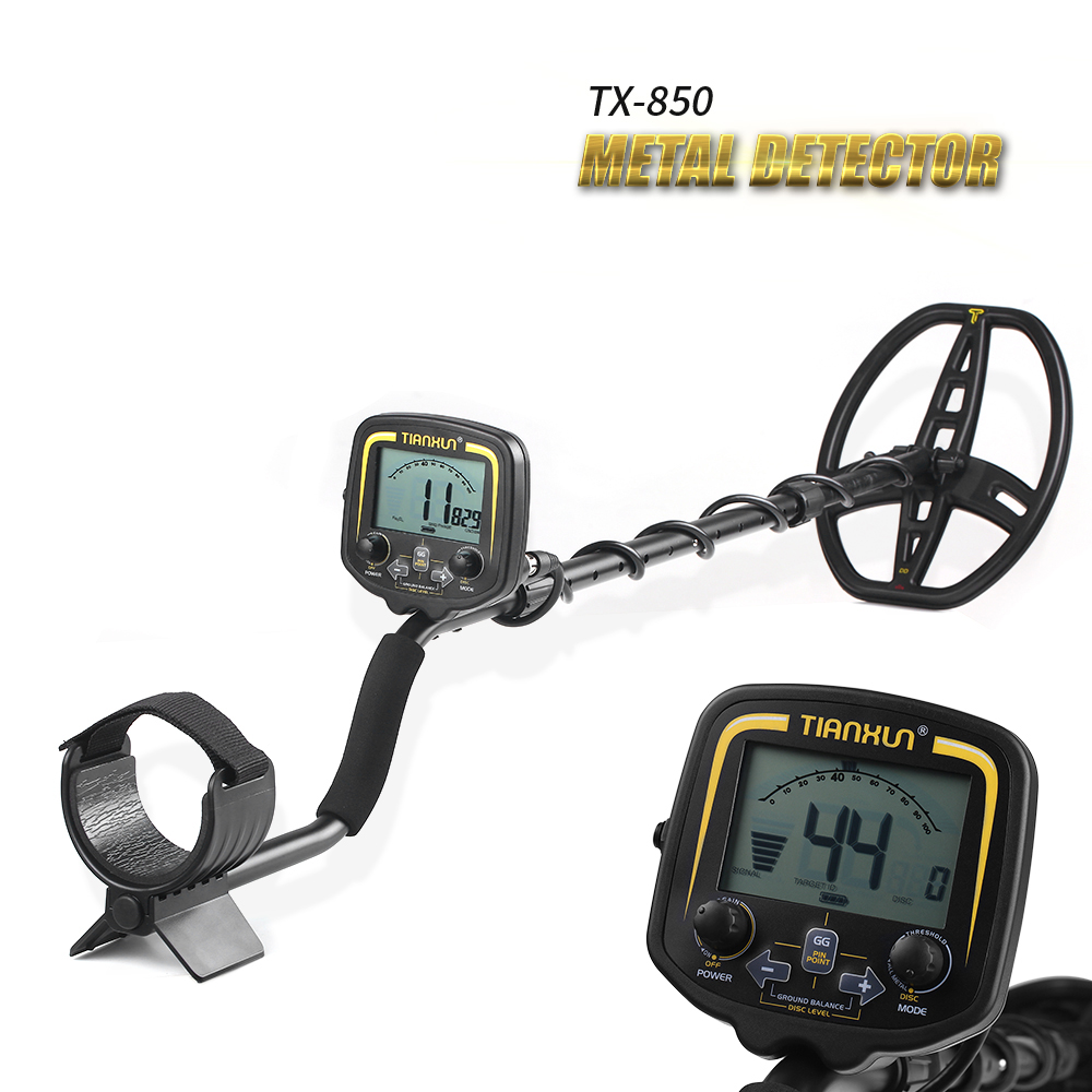 TIANXUN TX 850 Portable High Sensitivity Underground Metal Gold Detector Hunter Finder LCD Display Depth