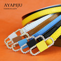 2016 ladies belt designer strap women fashion pu riemen female narrow kemer wholesale