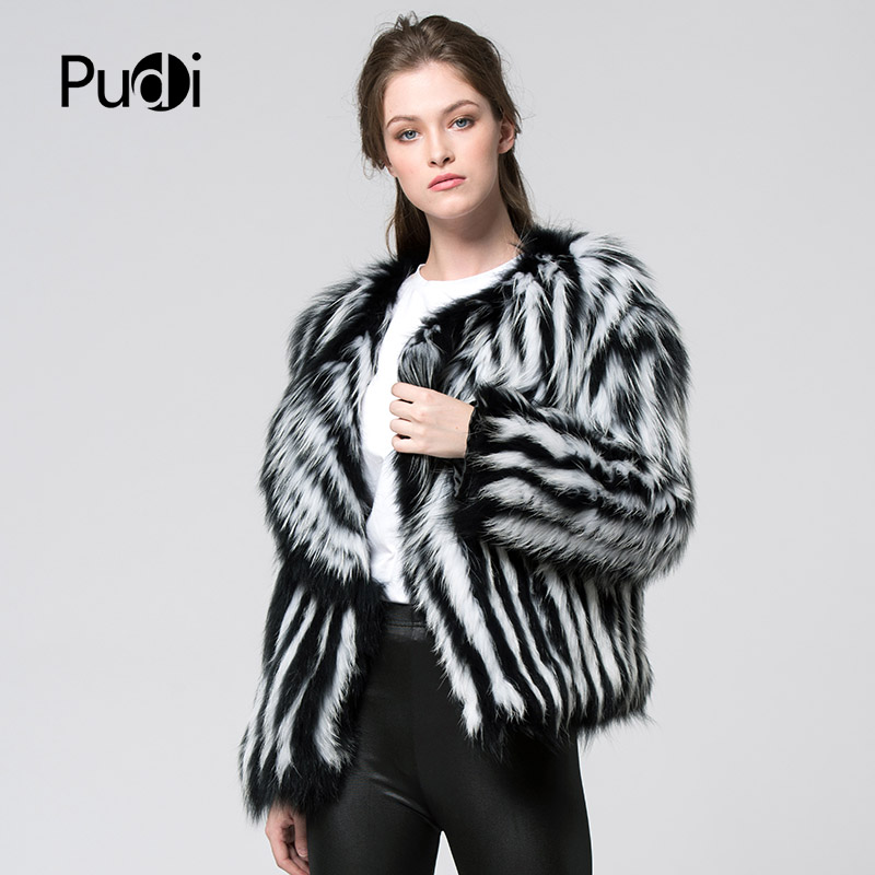Couleur De Manteau Veste Complet Hiver Ct7043 Femmes Fourrure Blanc Style Nouveau Marque Noir Manches Véritable Tricoté Raton Laveur Réel wZg8UBqX