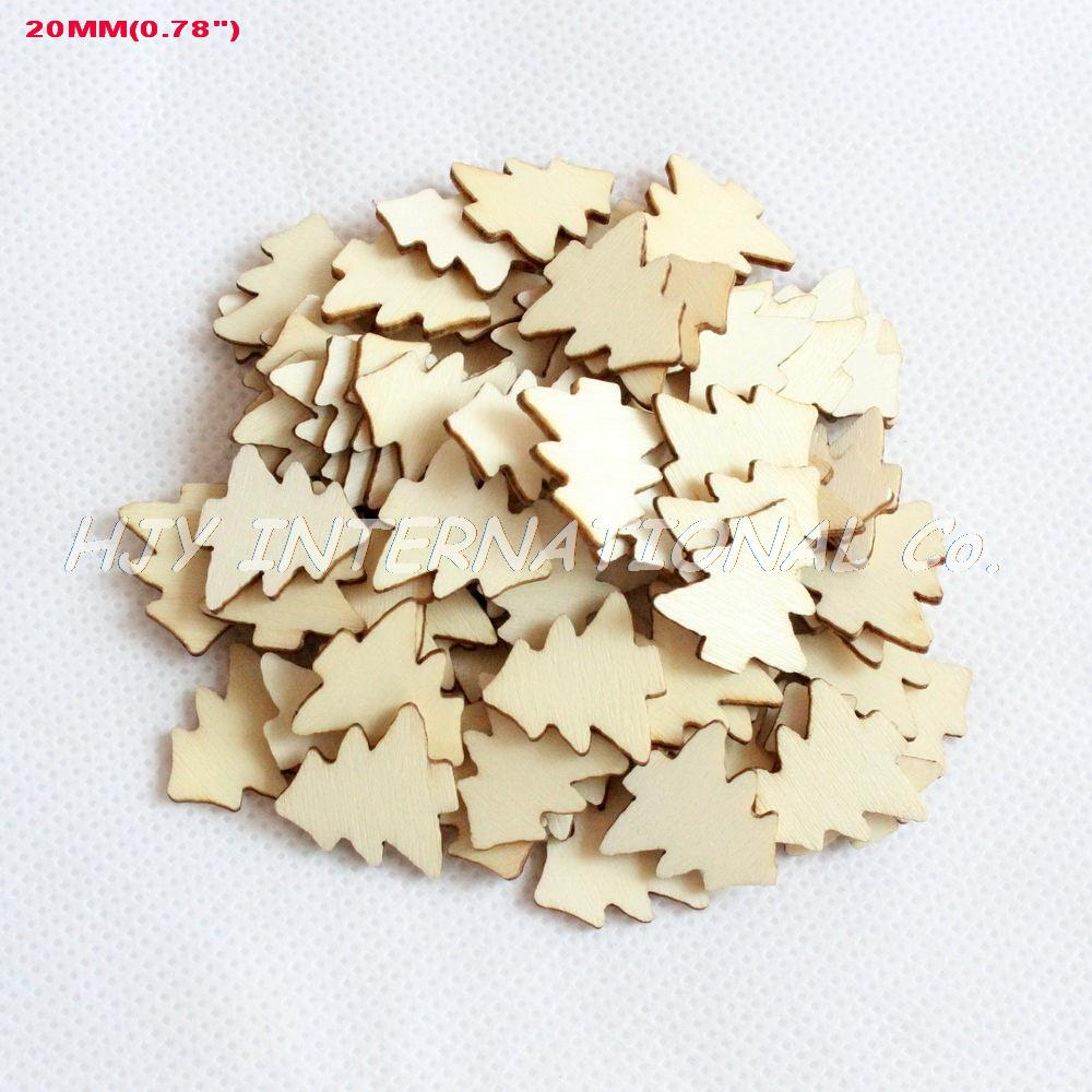 Small wooden ornaments -  150pcs Set 20mm Blank Natural Wooden Christmas Ornaments Small Tree 0 78 H8099553b