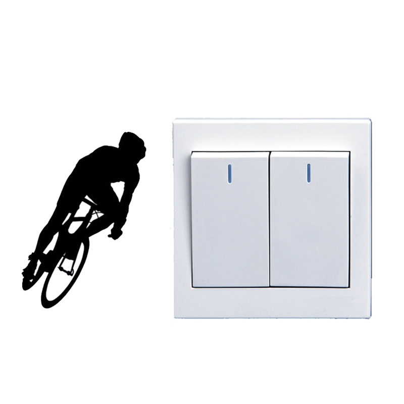 Mountaineering Exercise Bike Vinyl Fashion Light Switch Sticker Wall Decal 5WS0349