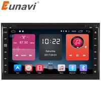 Eunavi 2 din Android 6.0 car dvd player di navigazione gps universale auto gps radio video CD DVD disco per nissan xtrail Qashqai juke