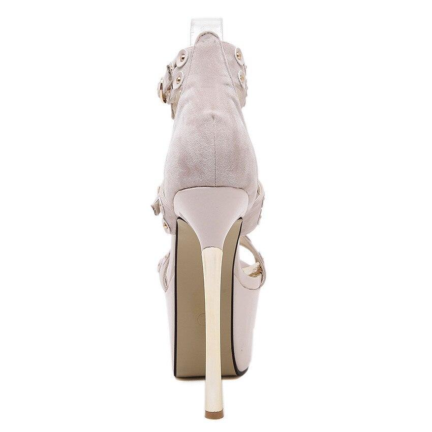 Stile Cm Il 16 Donne Da Tacchi Alti Piattaforma Sandali Nero Delle Della Estate Pompe Di Tacco 2016 Shoes Heel Sposa Alto cachi Super Scarpe High BTwqRIR1