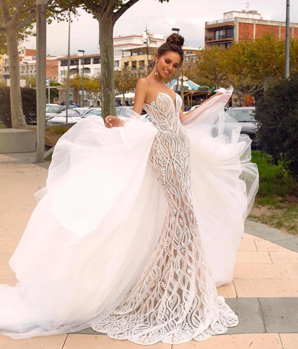 Eslieb Gelin Elbiseleri Wedding Dress 20 Gelinlik Wedding Dresses Mermaid  Sweetheart Vestido de Noiva Bruidsjurken