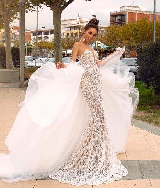 Eslieb Gelin Elbiseleri Hochzeit Kleid 2019 Gelinlik Brautkleider Meerjungfrau Schatz Vestido de Noiva Bruidsjurken