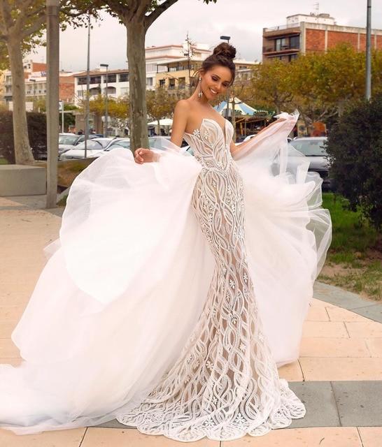 Eslieb Gelin Elbiseleri Wedding Dress 2019 Gelinlik Wedding Dresses Mermaid Sweetheart Vestido de Noiva Bruidsjurken