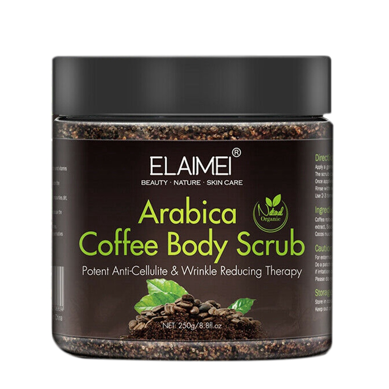 Aliver Coffee Arabica Dead Sea Salt Body Scrub Natural Detoxifying Mineral-Rich 250G