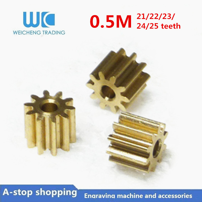 10pc 0.5M 21/22/23/24/25 Teeth  0.5mod  Gear Rack Spur Gear Precision Copper Steel Cnc Pinion