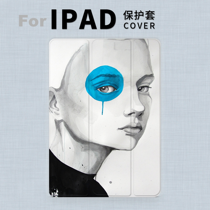 Art Blue Girl Magnet PU Leather Case Flip Cover For iPad Pro 9.7 10.5 Air Air2 Mini 1 2 3 4 Tablet Case For New ipad 9.7 2017 смартфон highscreen fest xl pro blue