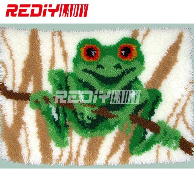 DIY Teppich Teppich Baum Frosch Knüpfteppich Kits Häkeln Decke 100 ...