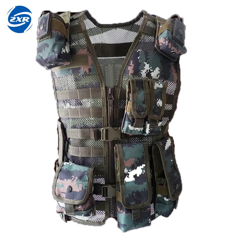 Camouflage Hunting Military Tactical Vest Molle Waistcoat Combat Assault Plate Carrier Vest Outdoor Clothing Hunting Vest newest adults