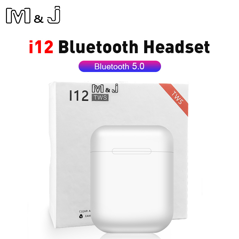 Mini i12 <font><b>TWS</b></font> Wireless Headphone Bluetooth 5.0 Sport Earphone Earbud Touch Magnetic Charging Box PK i20 i30 for redmi airdots image