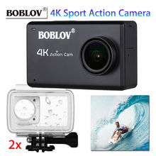 Boblov B1 HD 12MP 4K Digital WIFI Sports Action Camera 2.45 inch LCD touch screen Wireless Video Night Vision+2x Waterproof Case