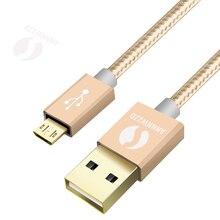 마이크로 USB 케이블 5V 2A 나일론 꼰 고속 고속 USB 충전기 케이블 삼성 Xiaomi 화 웨이 안 드 로이드 전화 케이블