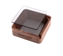 Top Popular Solid Wood Ashtray With Cover Creative Ornament Fashion Gift Hot Sale Durable Travel Ashtray Cigar AccessoriesFB430