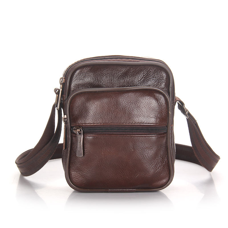 Mens Casual Bags Men Shoulder Bag in Mens Crossbody Small Square Bag for Men Genuine Leather Business Bags