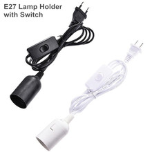 1.8m Power Cord Cable E27 Lamp Holder with Switch wire EU US PLUG for Pendant LED Bulb E27 Hanglamp Suspension Socket Bases 1 8m eu us plug switch line cable on off power cord for led lamp with button switch light switching white black wire extension