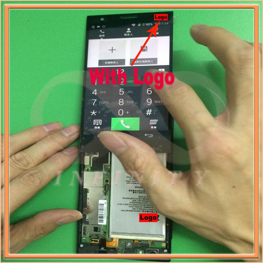 In Stock 100 Tested NEW Original With Logo For ZTE Little Star s2003 Geek 2 LCD