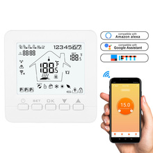 Wi-Fi сенсорный экран Электрический нагревательный Термостат ЖК-дисплей Подпольное Отопление Совместимость для Amazon Alexa Google Home