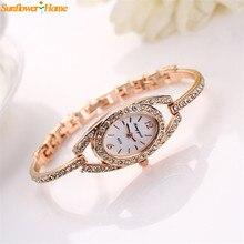 Newly Design  Fashion Women Lady Bracelet Crystal Rhinestone Quartz Wrist Watch relojes de las mujeres 160922 Drop Shipping