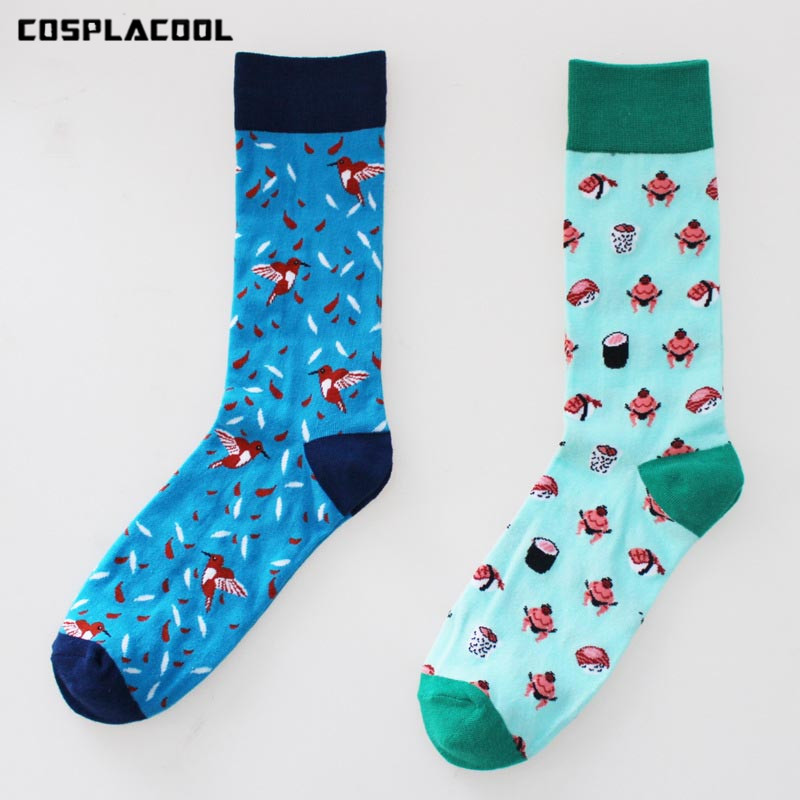 [COSPLACOOL]Sumo/Little people Small Design Pattern Funny Socks Men Fashion Happy Casual Socks Cotton Unisex High Quality Meias ...