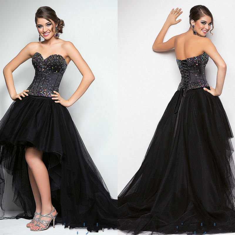 Short prom dresses with lace up back corset