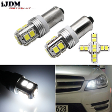 IJDM Canbus Fout Gratis 10SMD-3030 BAX9S H6W T4W LED Voor auto Achteruit Verlichting of Parking Lights, kentekenplaat Verlichting, Xenon Wit