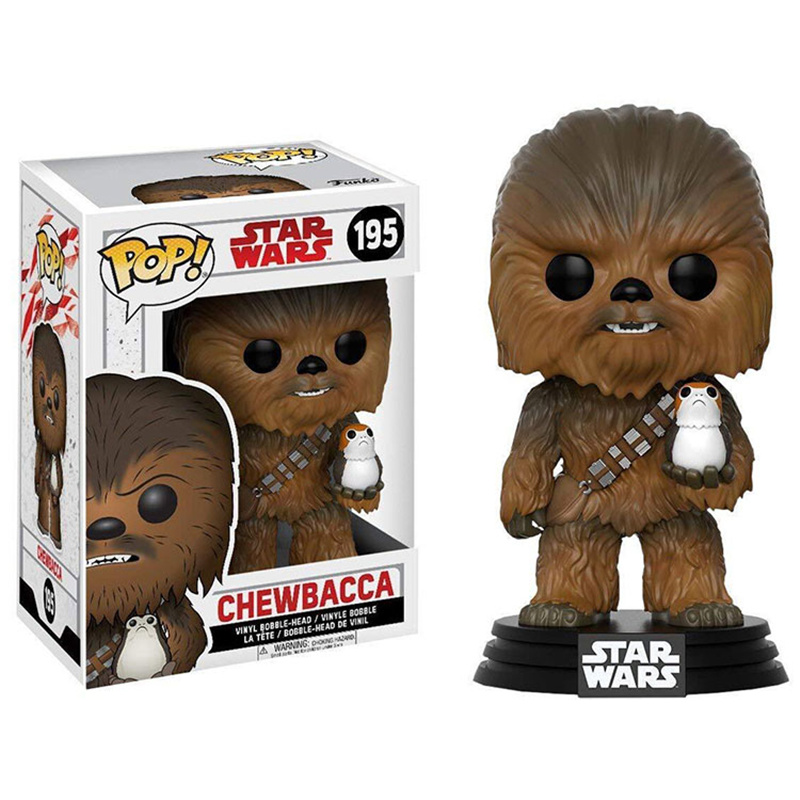 Funko POP STAR WARS CHEWBACCA PVC Action Figure Collection Model Toys For Children Birthday Gift With Retail Box