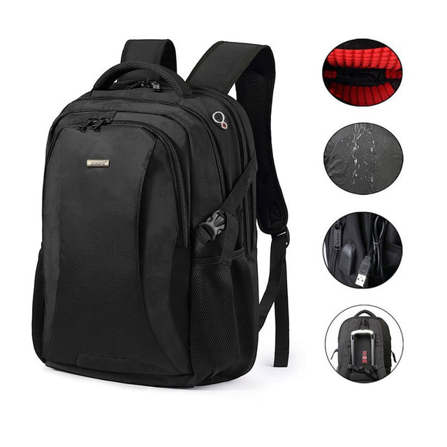 Anti-theft 18.4 inch Waterproof Laptop Backpack Business Travel Student  School Bags with USB Charging 5c630b8460f33