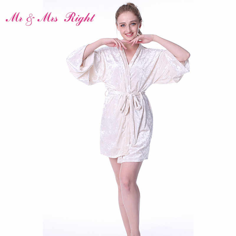 c86aeeb31904 Mr   Mrs Right Warm Kimono Robes For Women On Winter Night Bathrobe  Lingerie Sexy Short