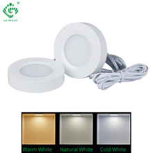 LED Cabinet Light 3W 12V 24V 15SMD 2835 Surface Mounted Kitchen Counter Cupboard Puck Shelf Under Cabinet Lighting Downlight  - buy with discount