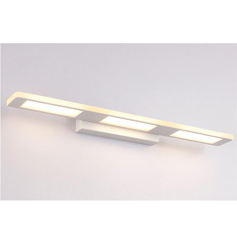 37CM Long Led Mirror Light Bathroom Light 12W Moistureproof Cube Wall Sconces Light Bathroom Make Up Mirror Wall Lamp traditional classic metal silvery electroplating led bathroom mirror light led wall lamps light wall sconces 1 light ac